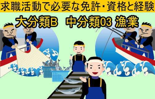 中分類03 漁業の就職に必要な免許と資格と経験