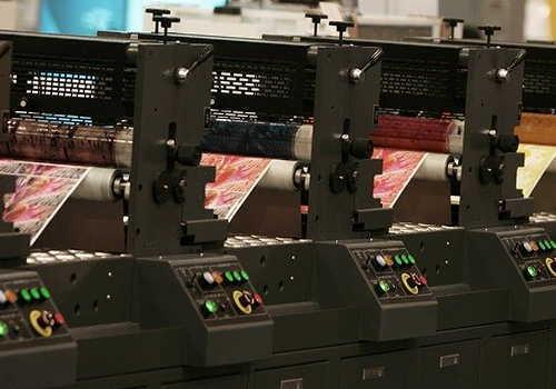 中分類15印刷・同関連業のオフセット印刷作業