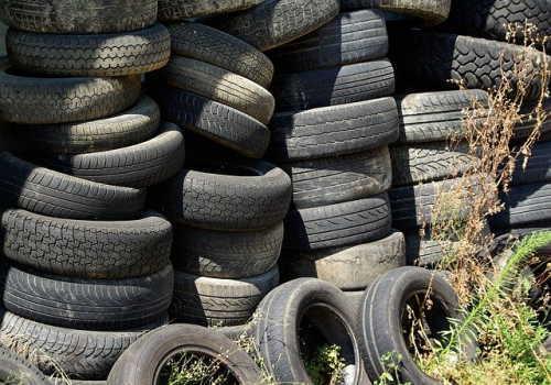 タイヤの廃棄物