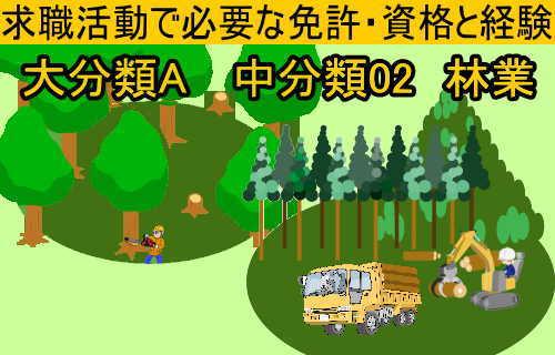 中分類02林業の就職に必要な免許と資格と経験