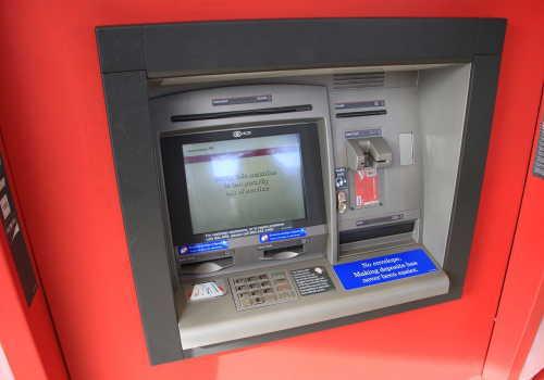 銀行業のATM自動預け払い機
