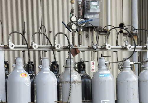 たくさんのガスタンク