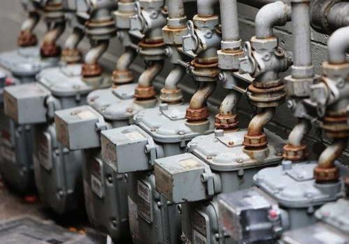 たくさんのガスメーター