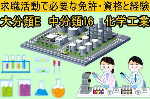 中分類16 化学工業の就職に必要な免許と資格と経験