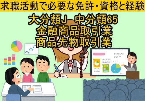 中分類65金融商品取引業・商品先物取引業に必要な免許と資格と経験