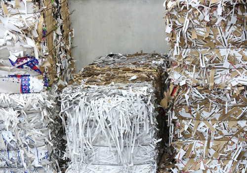 紙リサイクルの束