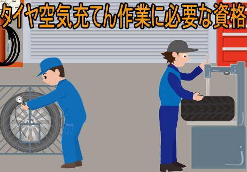 タイヤの空気充てんの業務に係る特別教育の修了に必要な講習