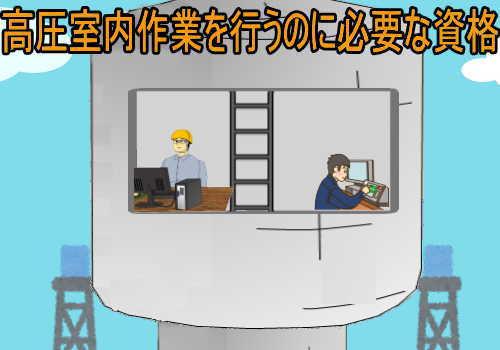 高圧室内業務特別教育と高圧室内作業主任者試験の違い