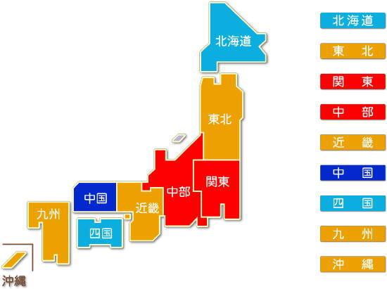 都道府県別 総合工事業 求人件数比較地図
