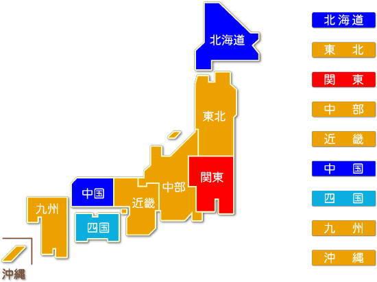 都道府県別 識別工事業求人比較地図