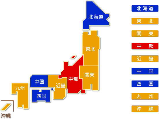都道府県別 食料品製造業求人件数比較地図