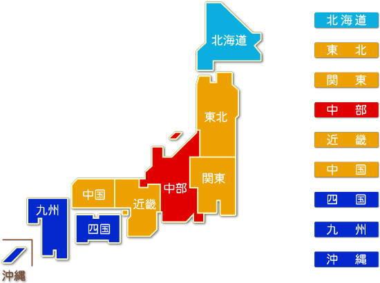 中分類11繊維工業 地方別、都道府県別求人件数比較地図