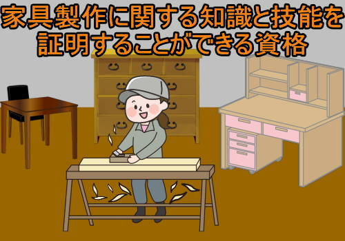 家具製作に関する知識と技能を証明することができる資格