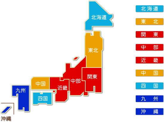 都道府県別 ゴム製品製造業 求人件数比較地図