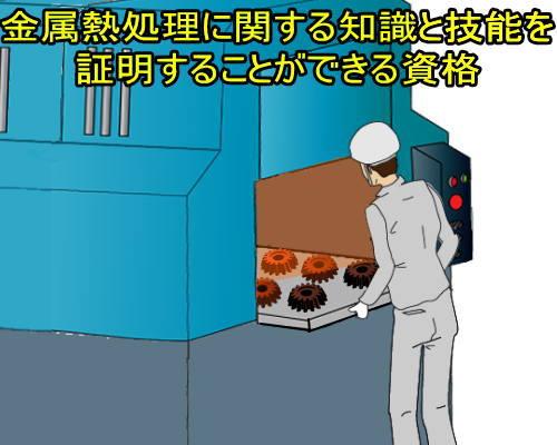 金属熱処理に関する知識と技能を証明することができる資格