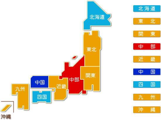 都道府県別 窯業・土石製品製造業 求人件数比較地図