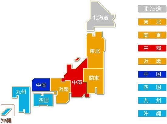 都道府県別 電子部品・デバイス・電子回路製造業求人件数比較地図