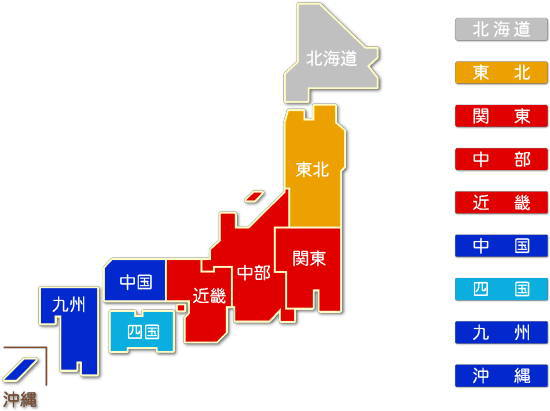 都道府県別 電気機械器具製造業求人件数比較地図