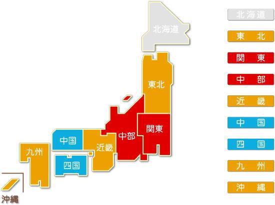 都道府県別 ガス業求人件数比較地図2