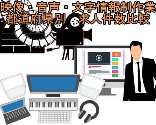 都道府県別 映像・音声・文字情報制作業求人サムネ