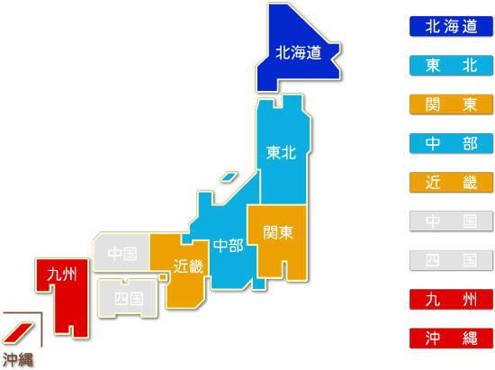 都道府県別 熱供給業求人件数比較地図