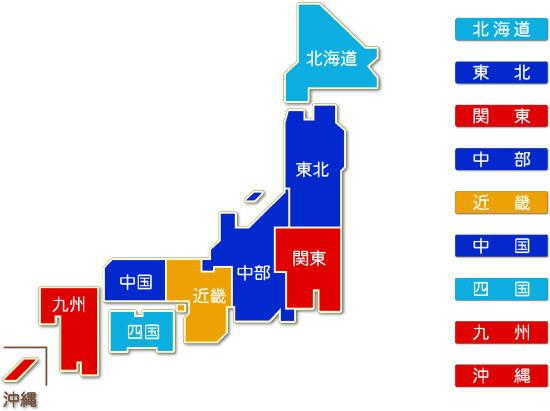都道府県別 通信業求人件数比較地図