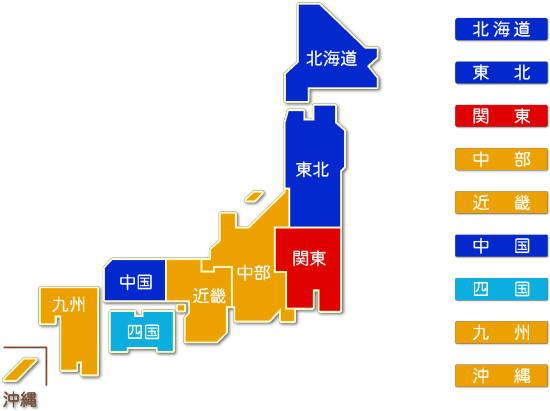 都道府県別 道路旅客運送業求人件数比較地図2