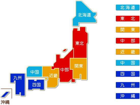 都道府県別 鉄道業求人件数比較地図