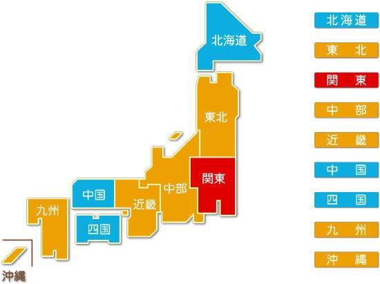 都道府県別 電気業求人件数比較地図