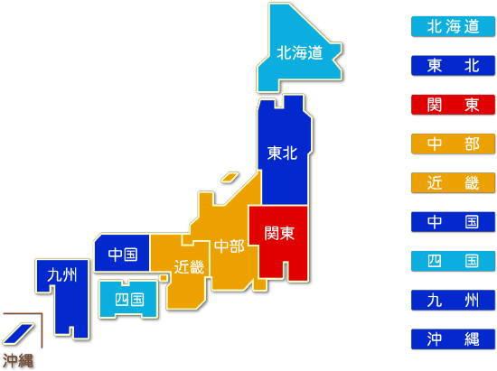都道府県別 倉庫業求人件数比較地図
