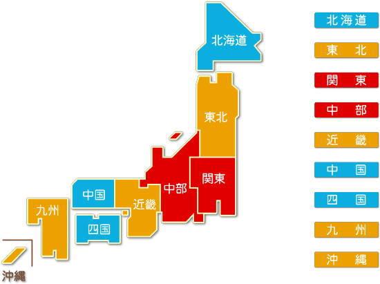 都道府県別 各種商品卸売業求人件数比較地図