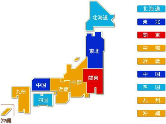 都道府県別 各種商品小売業求人件数比較地図