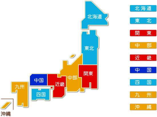 都道府県別 繊維・衣服等卸売業求人件数比較地図