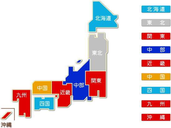 都道府県別 航空運輸業求人件数比較地図
