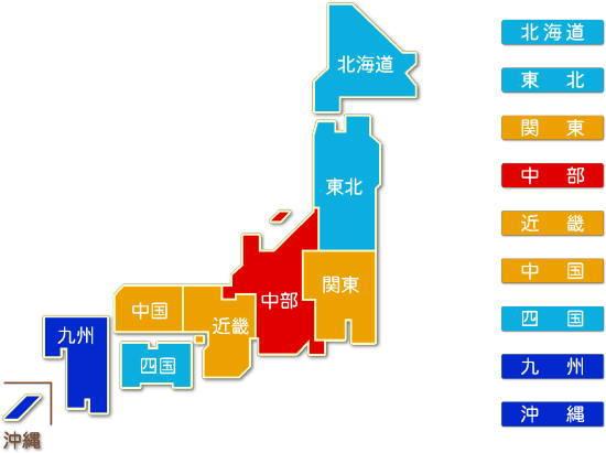 都道府県別 郵便業求人件数比較地図
