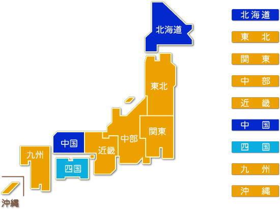 都道府県別 飲食料品卸売業求人件数比較地図