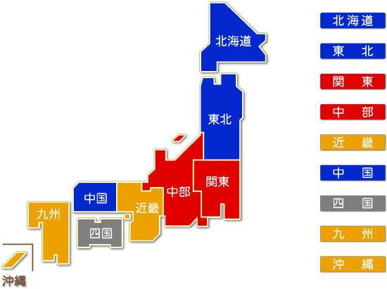 中分類61 無店舗小売業求人件数比較地図