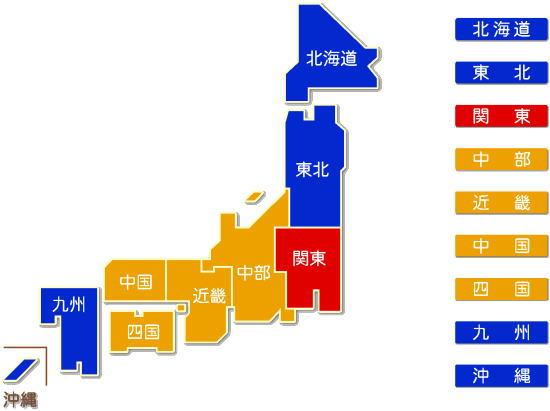 中分類63 協同組織金融業求人件数比較地図