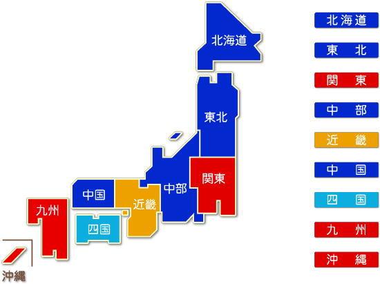 中分類64 貸金業・クレジットカード業等非預金信用機関求人件数比較地図